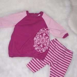 Dwell 3M Pink Purple Sweater Set Baby Bundle